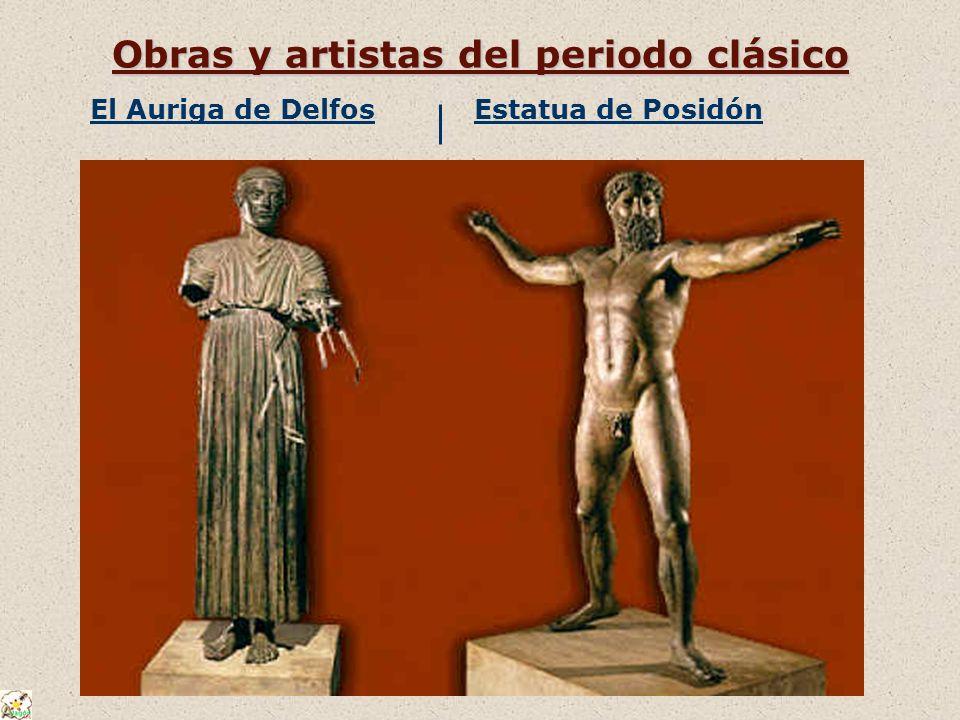 Obras y artistas del periodo clásico El Auriga de DelfosEstatua de Posidón
