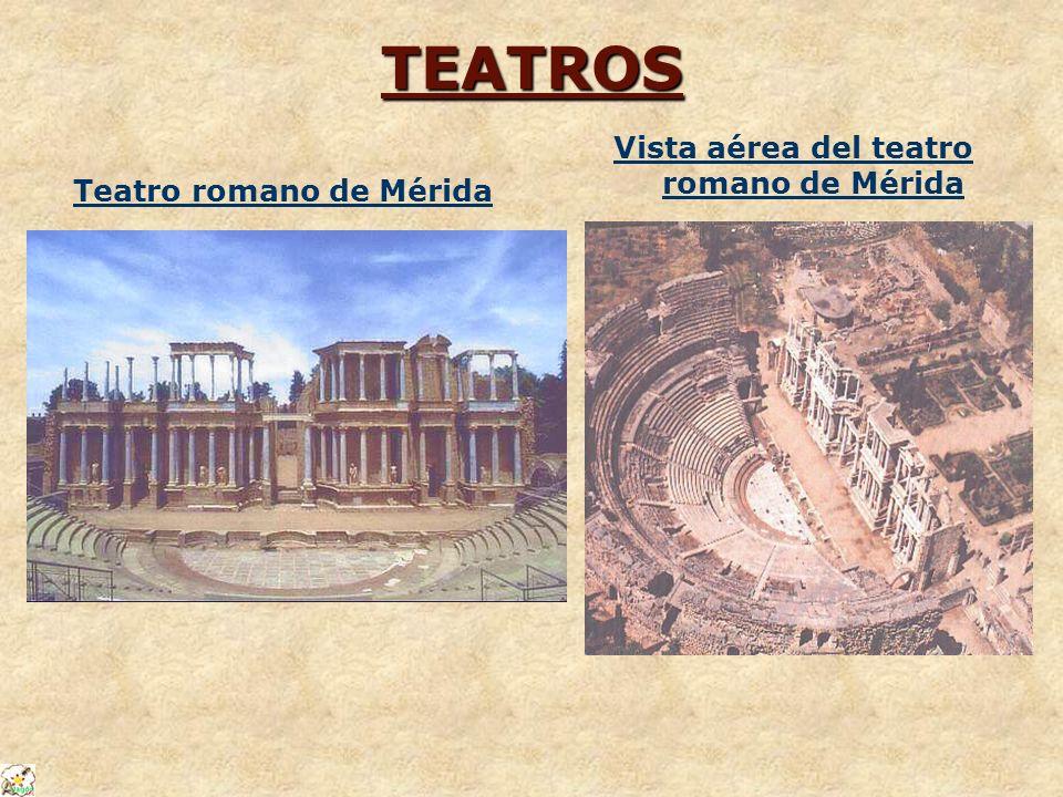 TEATROS Teatro romano de Mérida Vista aérea del teatro romano de Mérida