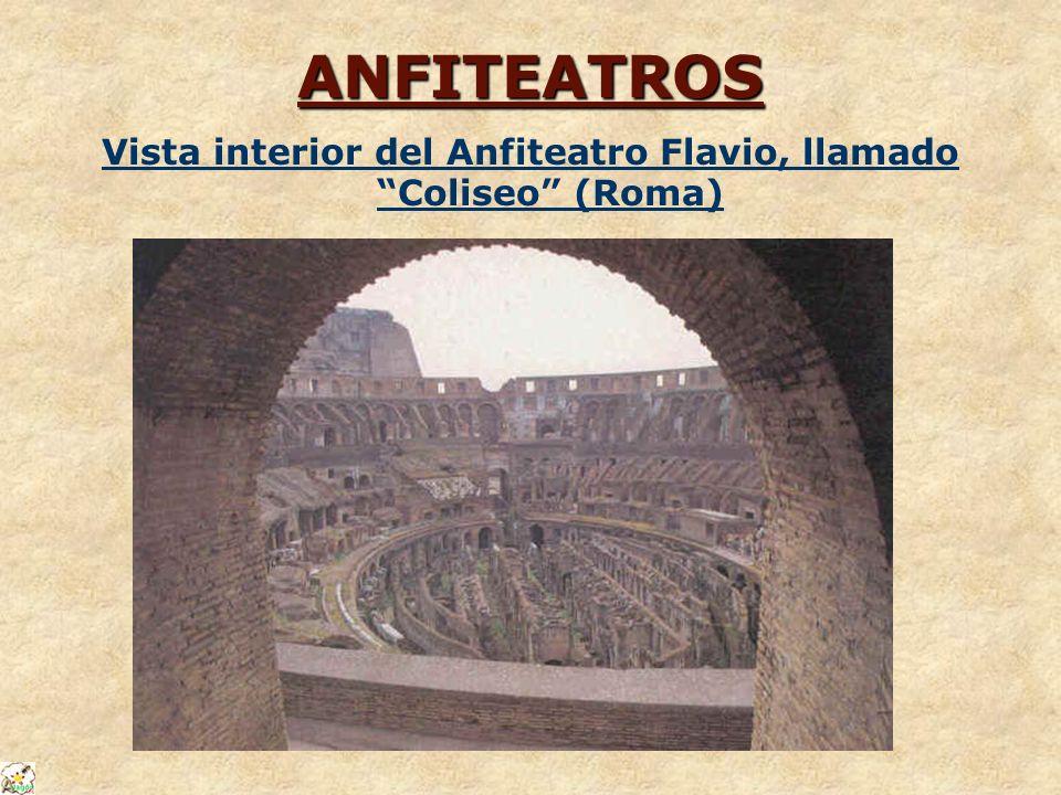 ANFITEATROS Vista interior del Anfiteatro Flavio, llamado Coliseo (Roma)