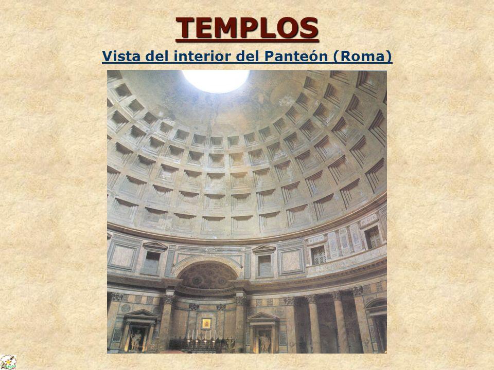 TEMPLOS Vista del interior del Panteón (Roma)