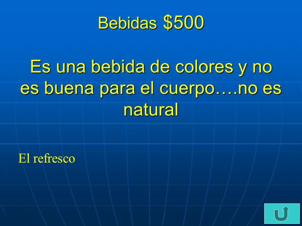 C3-$400 Bebidas $400 Es una bebida que las personas beben por la manana y esta caliente….. El cafe