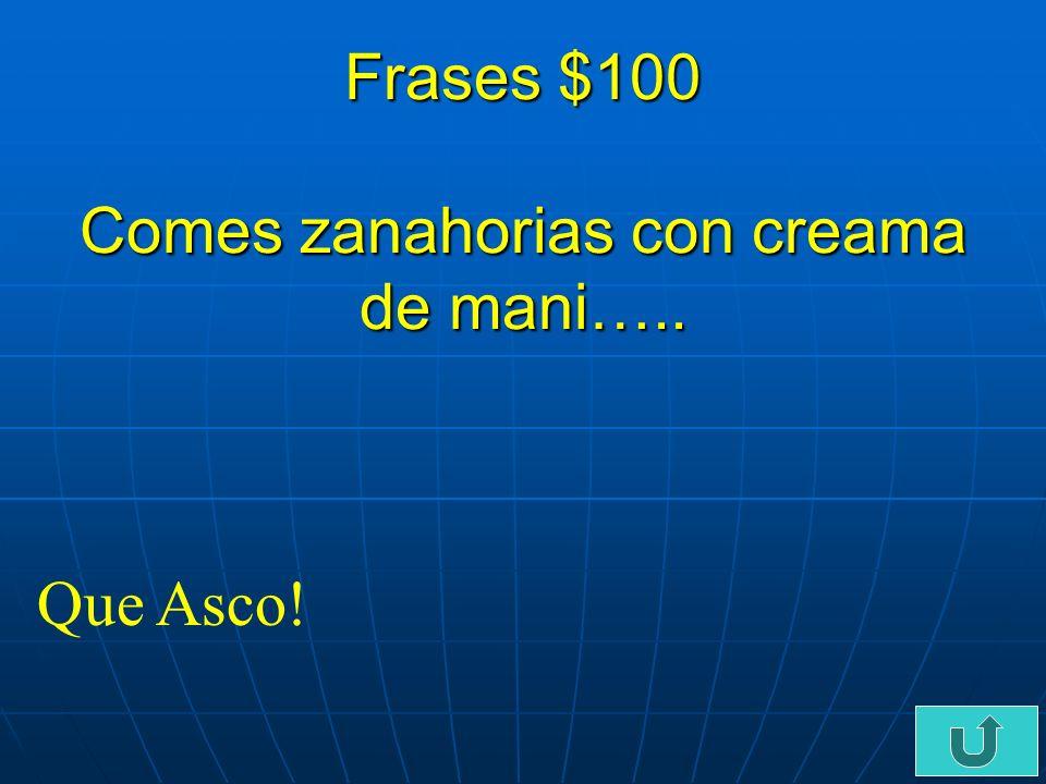 C5-$500 verbos- $500 Pablo no _______ que el desayuno es la comida mas importante del dia.