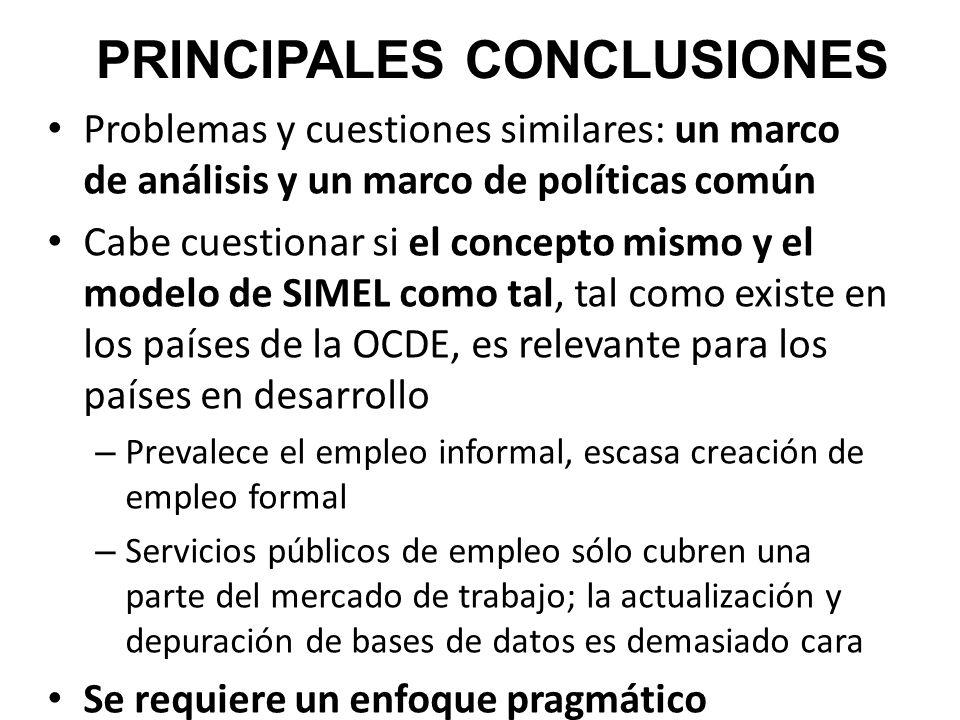 Problemas y cuestiones similares: un marco de análisis y un marco de políticas común Cabe cuestionar si el concepto mismo y el modelo de SIMEL como ta