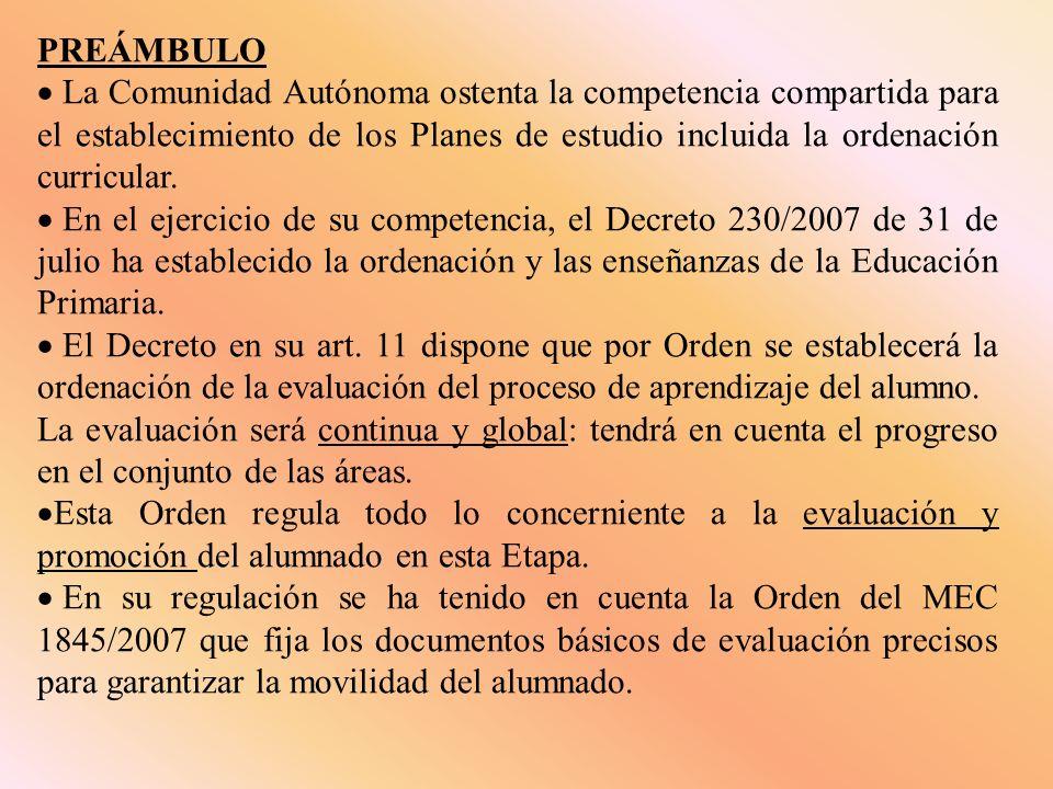 PREÁMBULO La Comunidad Autónoma ostenta la competencia compartida para el establecimiento de los Planes de estudio incluida la ordenación curricular.