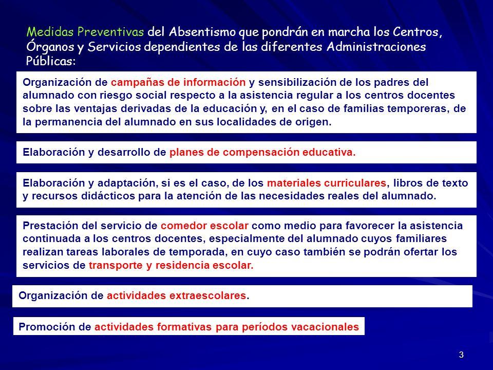 4 CONCEPTO DE ABSENTISMO ESCOLAR Decreto 167/2003, de 17 de junio, por el que se establece la ordenación de la atención educativa a los alumnos con n.e.e.