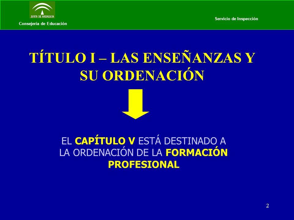 3 Consejería de Educación LA FORMACIÓN PROFESIONAL EN LA LOE Art.
