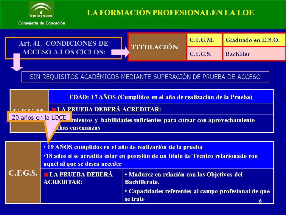7 Consejería de Educación 1.Para quienes hayan superado un Programa de Cualificación Profesional Inicial.