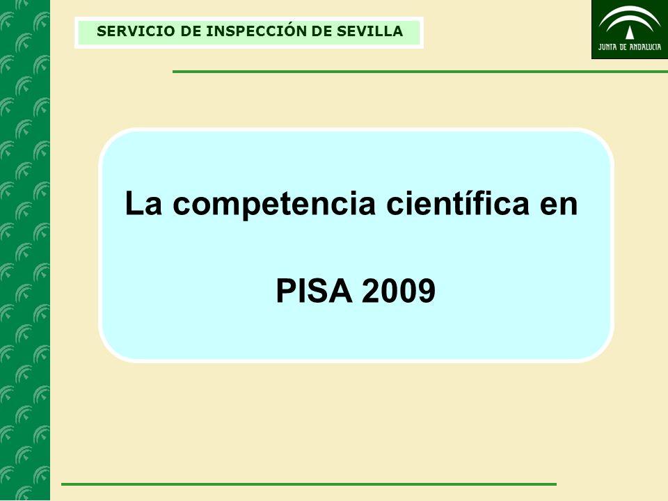 SERVICIO DE INSPECCIÓN DE SEVILLA La competencia científica en PISA 2009