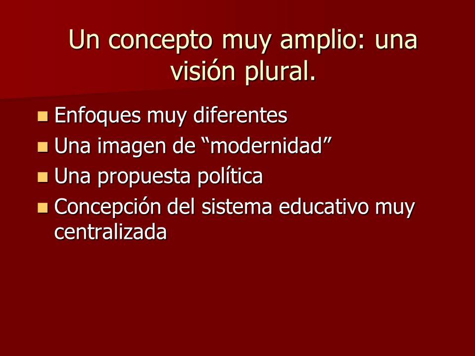 Un concepto muy amplio: una visión plural.