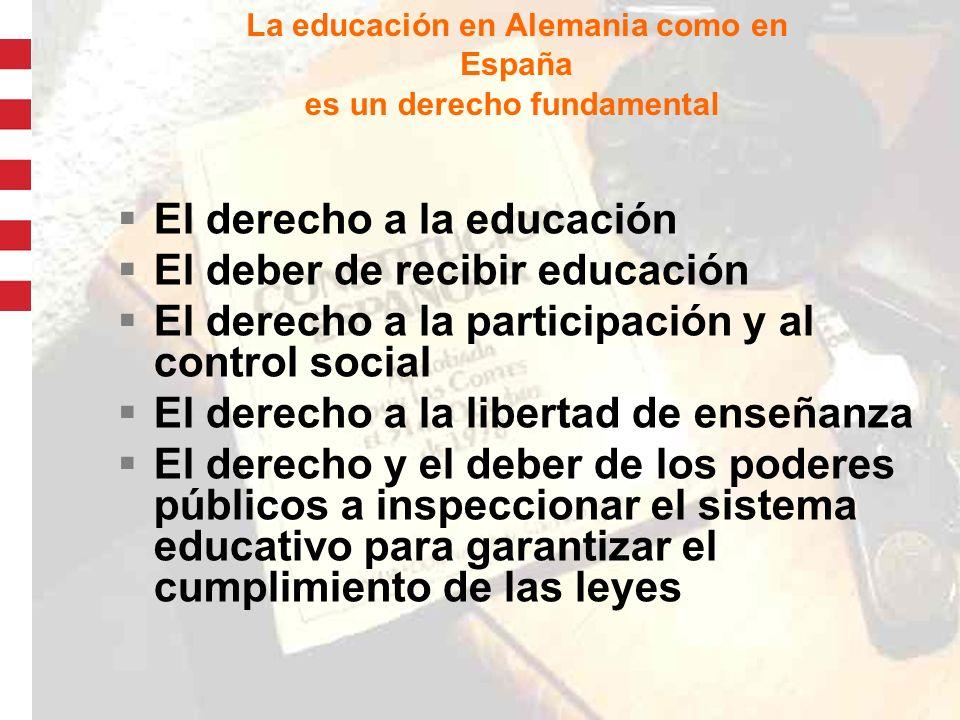 5 El sistema federal alemán La autonomía en cuestiones educacionales y culturales.