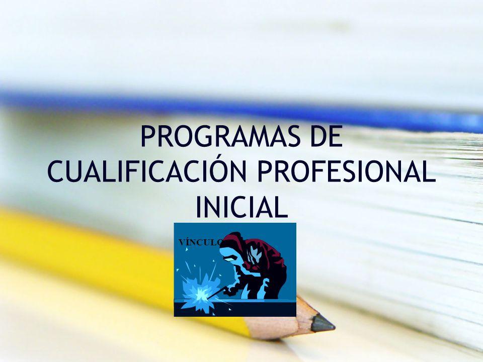 PROGRAMAS DE CUALIFICACIÓN PROFESIONAL INICIAL VÍNCULO