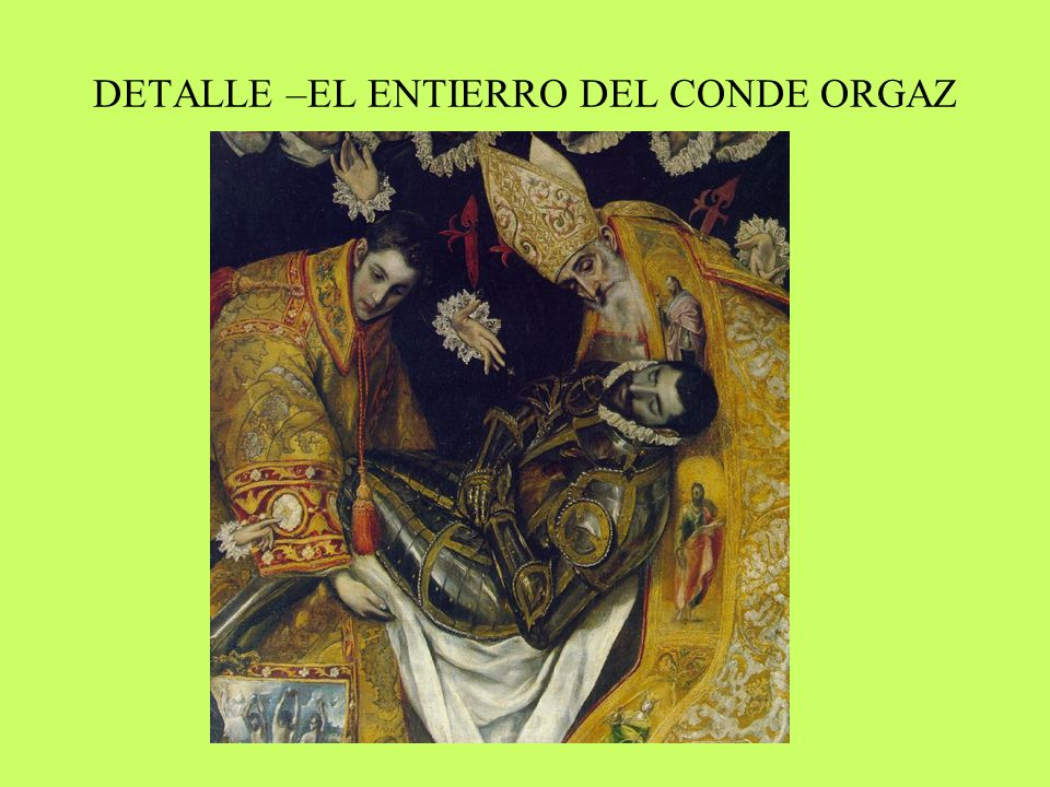 DETALLE –EL ENTIERRO DEL CONDE ORGAZ