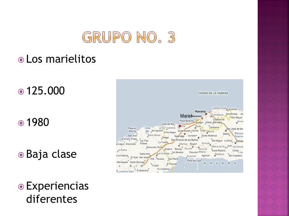 Los marielitos 125.000 1980 Baja clase Experiencias diferentes