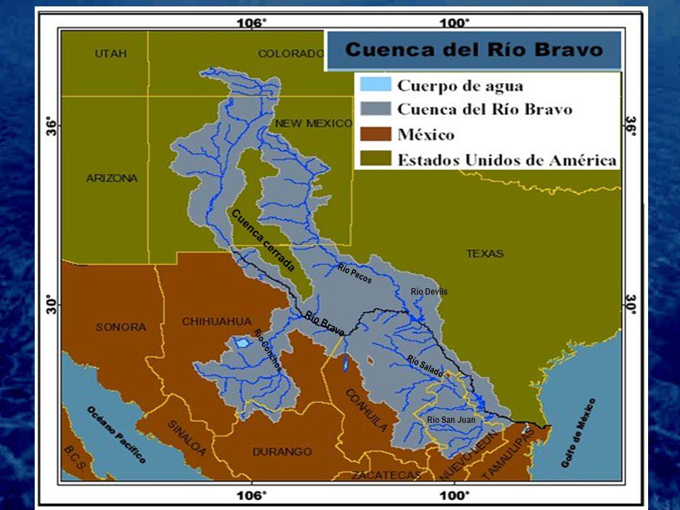Cuenca cerrada Río Pecos Río Bravo Río Conchos Río Salado Río San Juan Río Devils