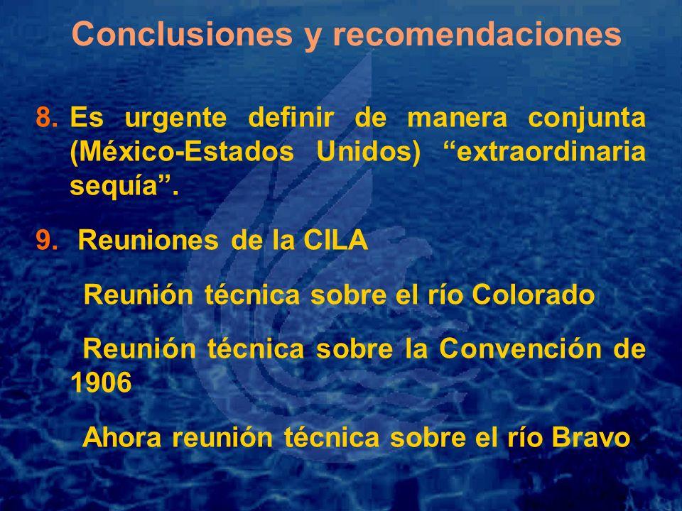Conclusiones y recomendaciones 8.