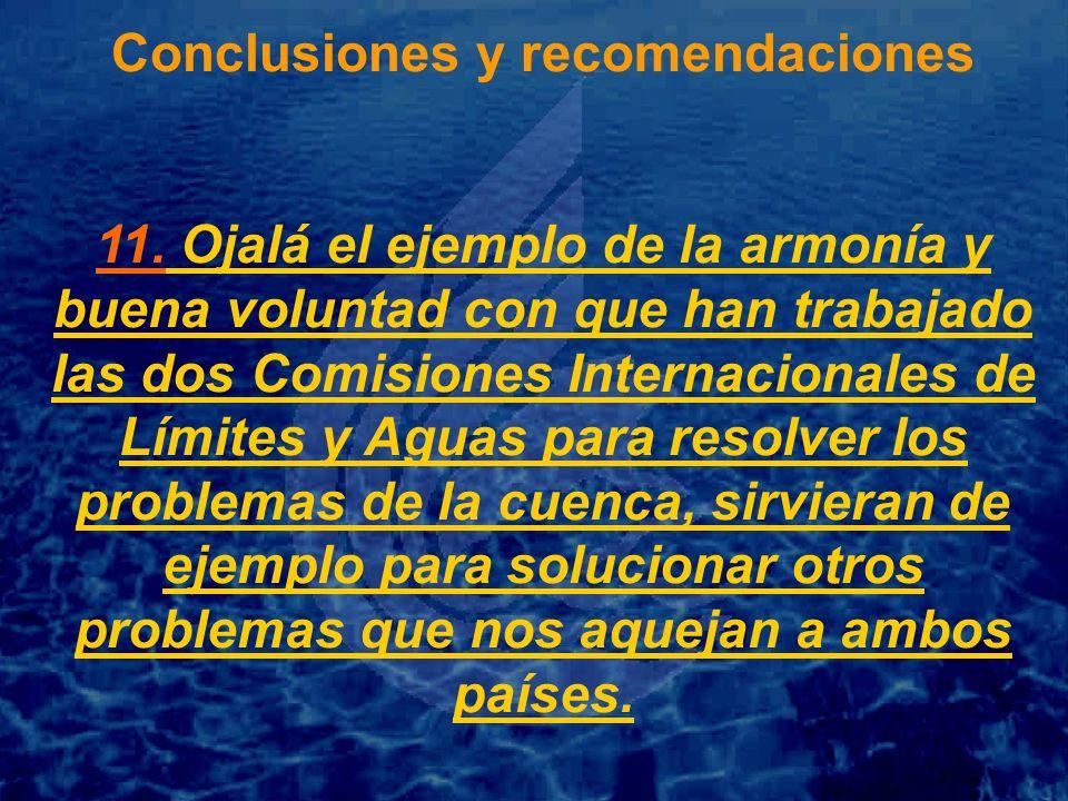 Conclusiones y recomendaciones 11.