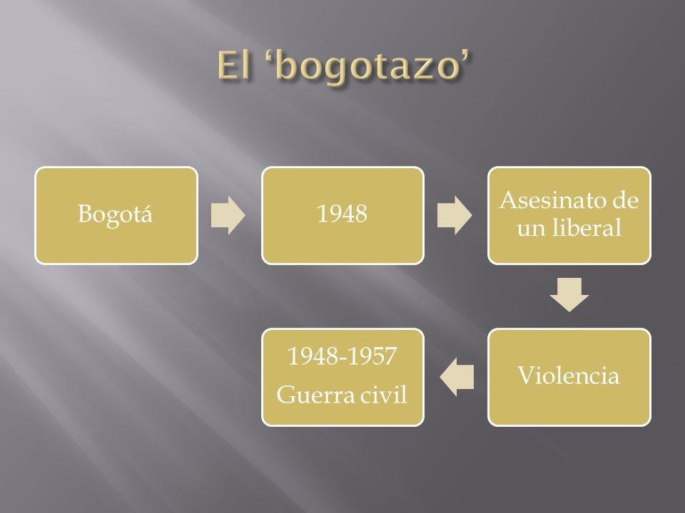 Bogotá1948 Asesinato de un liberal Violencia 1948-1957 Guerra civil