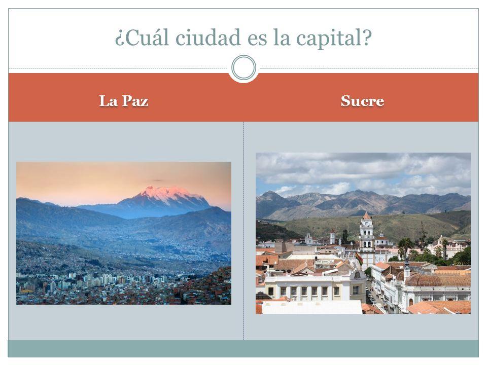 La Paz Sucre ¿Cuál ciudad es la capital?