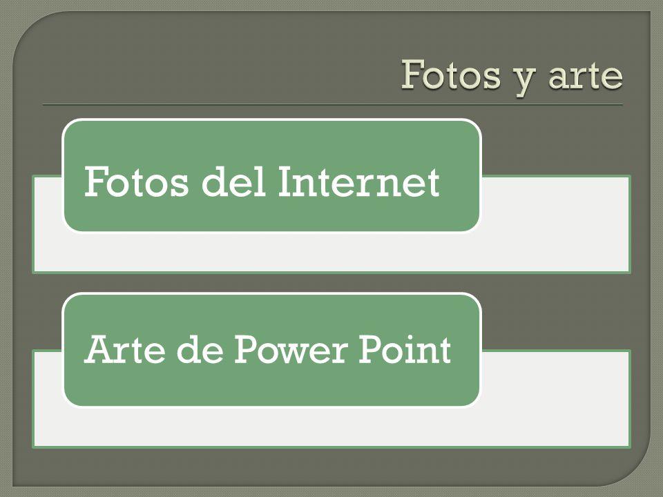 Fotos del Internet Arte de Power Point