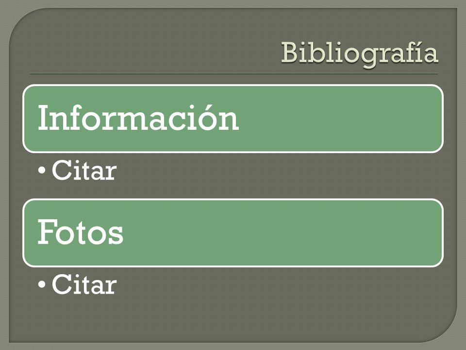 Información Citar Fotos Citar