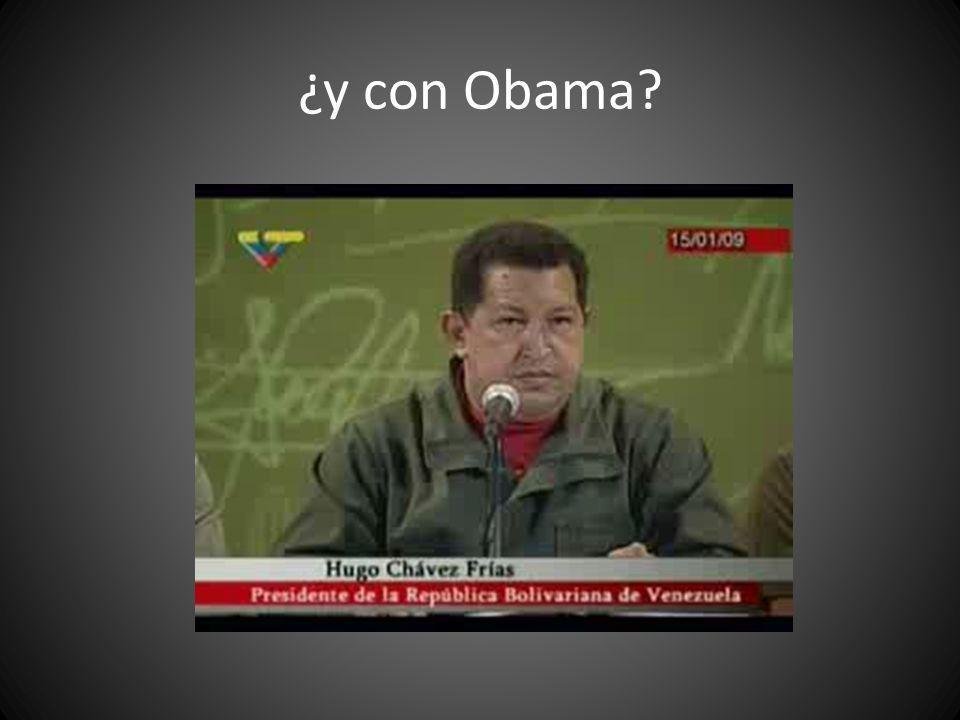 ¿y con Obama?