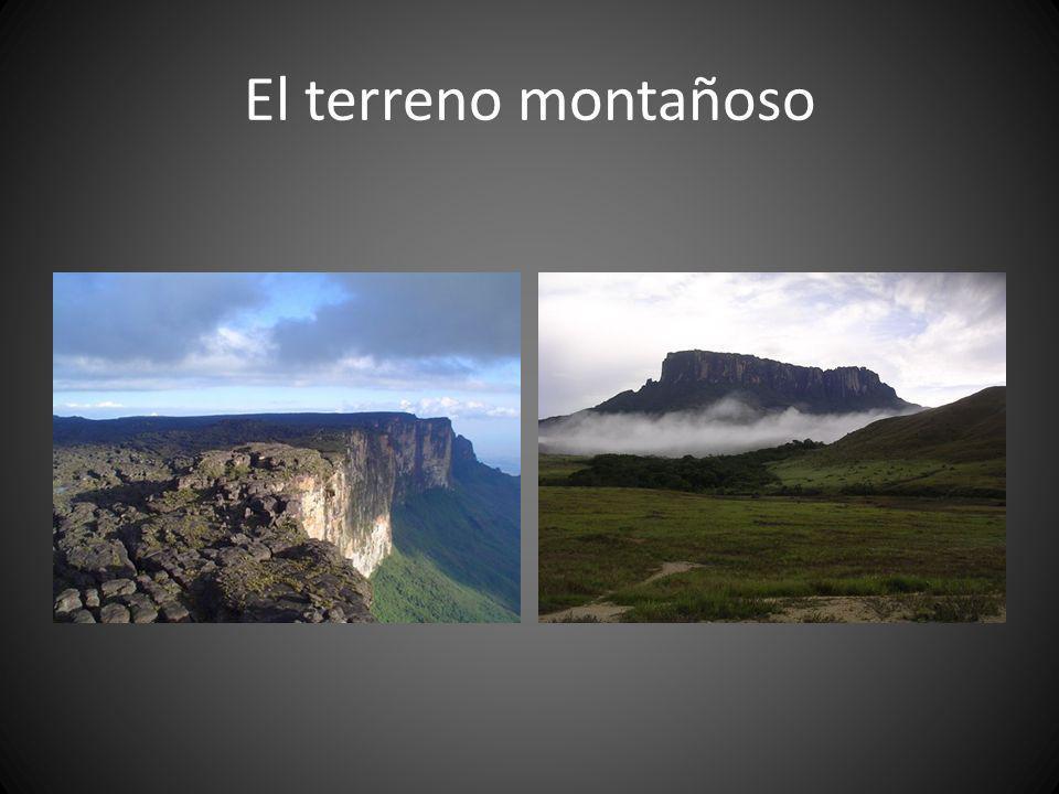 El terreno montañoso
