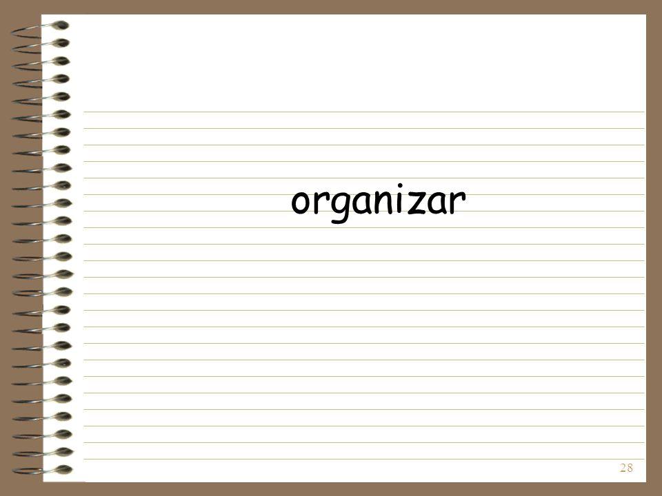 28 organizar