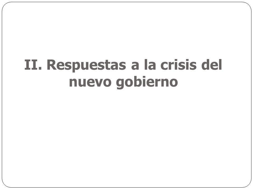 II. Respuestas a la crisis del nuevo gobierno