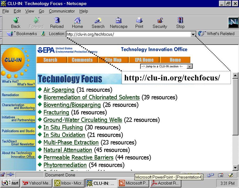 2/16/99 59 http://clu-in.org/techfocus/ 59
