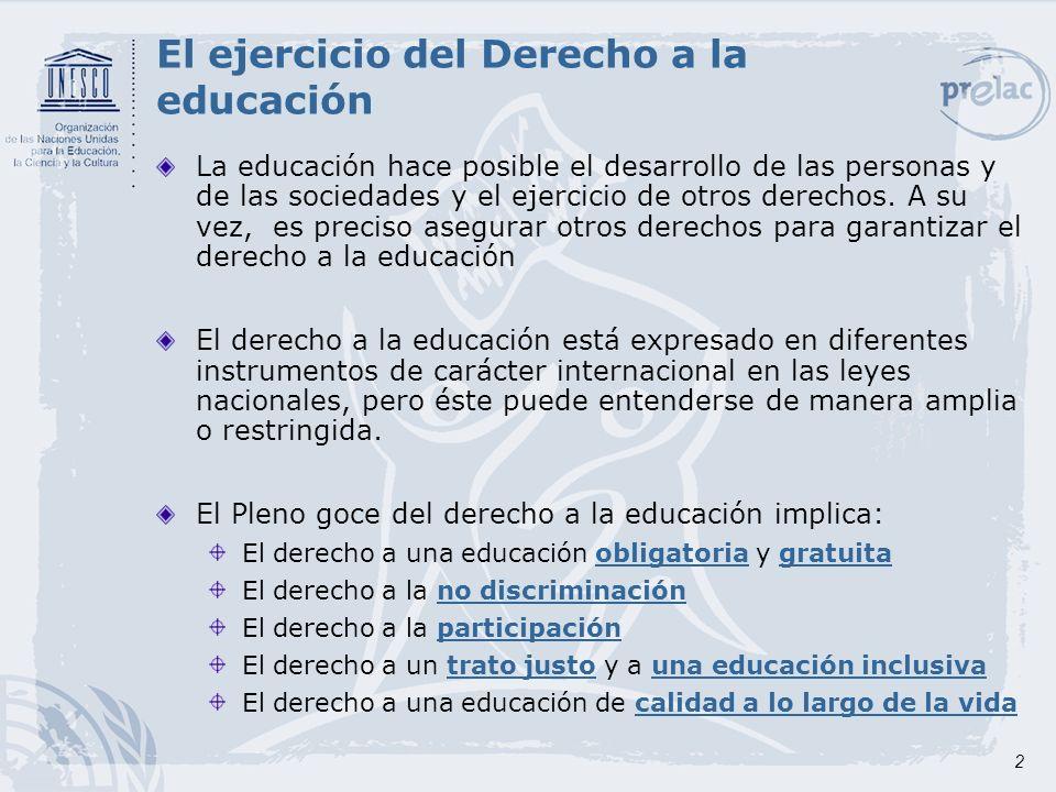 3 Derecho a una educación de calidad a lo largo de la vida Promover el desarrollo de las múltiples capacidades de cada persona La calidad de la educación es esencial para el logro de los objetivos de EPT.