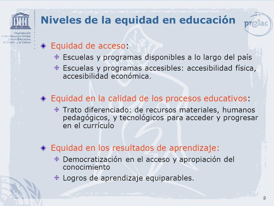 10 Eficacia y eficiencia La eficacia consiste en analizar en qué medida se logran alcanzar las metas de una educación de calidad que sea relevante, pertinente y equitativa.