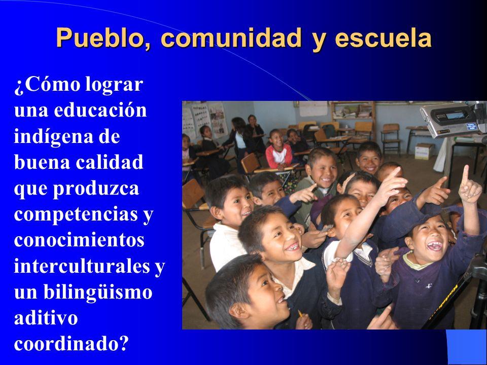 Pueblo, comunidad y escuela l ¿Cómo lograr una educación indígena de buena calidad que produzca competencias y conocimientos interculturales y un bili
