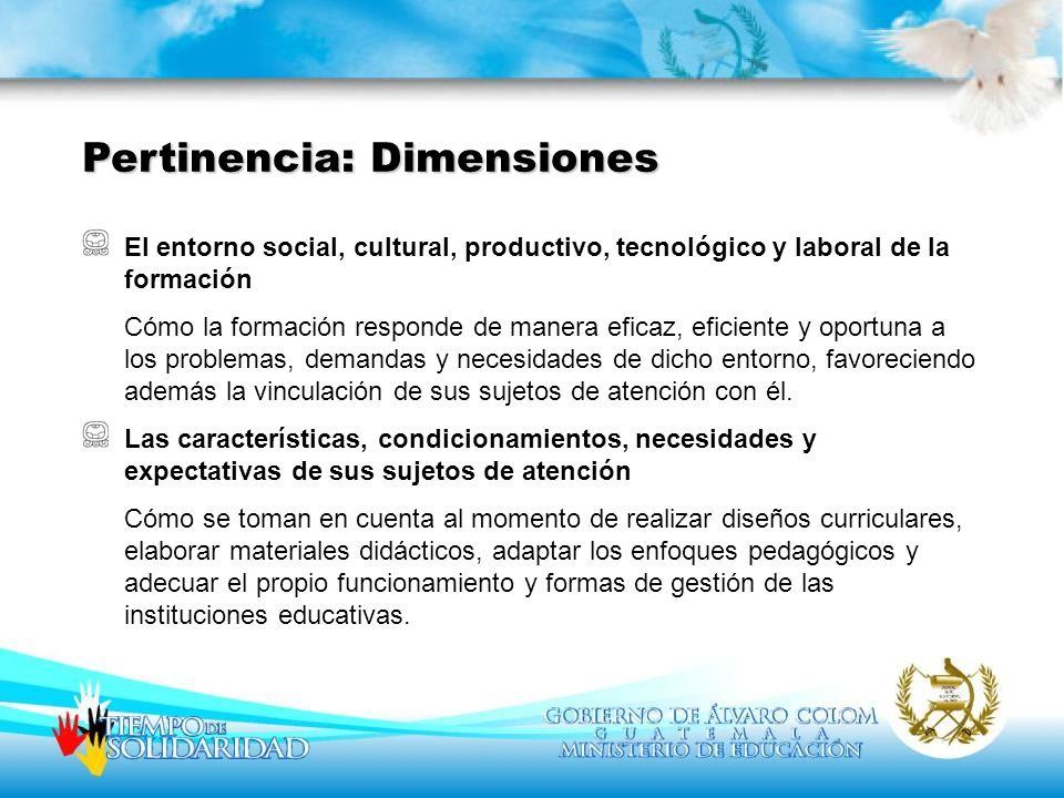 El entorno social, cultural, productivo, tecnológico y laboral de la formación Cómo la formación responde de manera eficaz, eficiente y oportuna a los