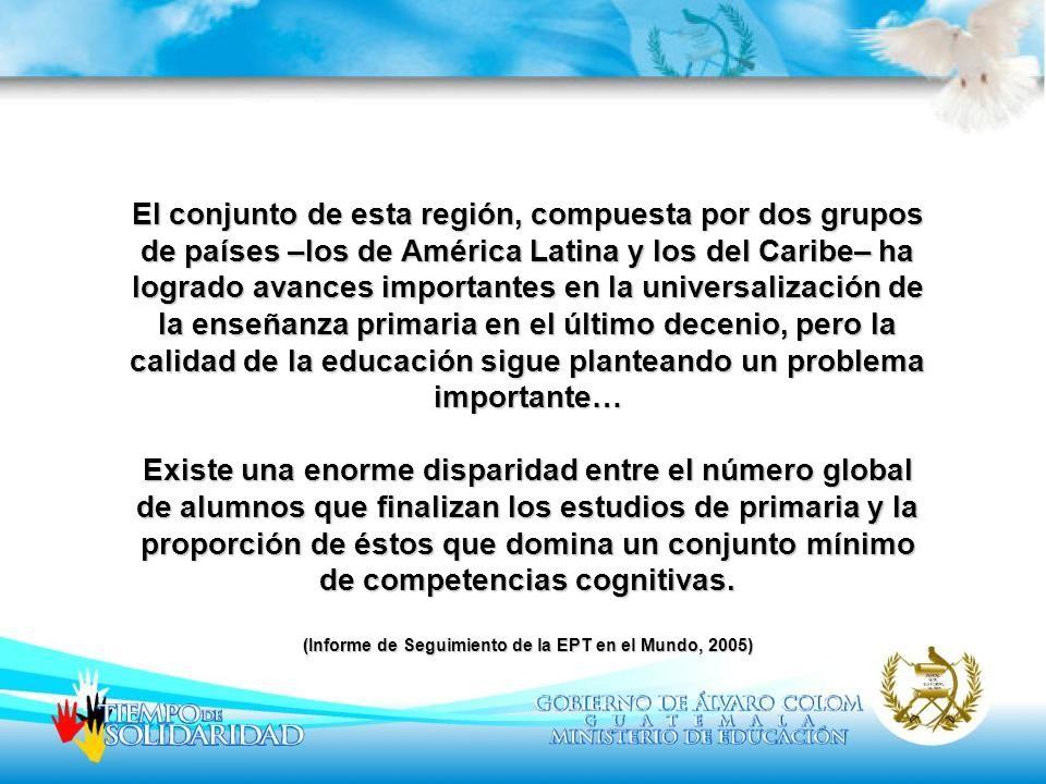 El conjunto de esta región, compuesta por dos grupos de países –los de América Latina y los del Caribe– ha logrado avances importantes en la universal