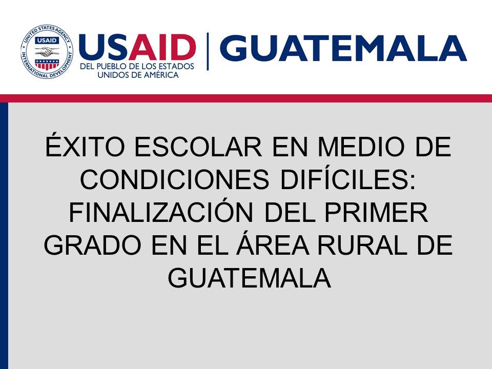 ÉXITO ESCOLAR EN MEDIO DE CONDICIONES DIFÍCILES: FINALIZACIÓN DEL PRIMER GRADO EN EL ÁREA RURAL DE GUATEMALA