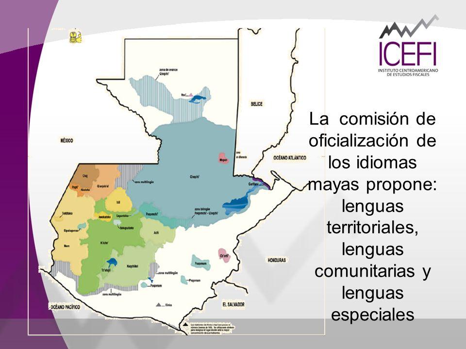 La comisión de oficialización de los idiomas mayas propone: lenguas territoriales, lenguas comunitarias y lenguas especiales