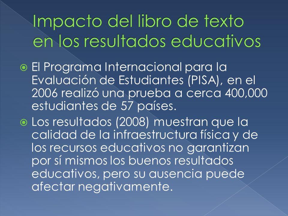 El Programa Internacional para la Evaluación de Estudiantes (PISA), en el 2006 realizó una prueba a cerca 400,000 estudiantes de 57 países. Los result
