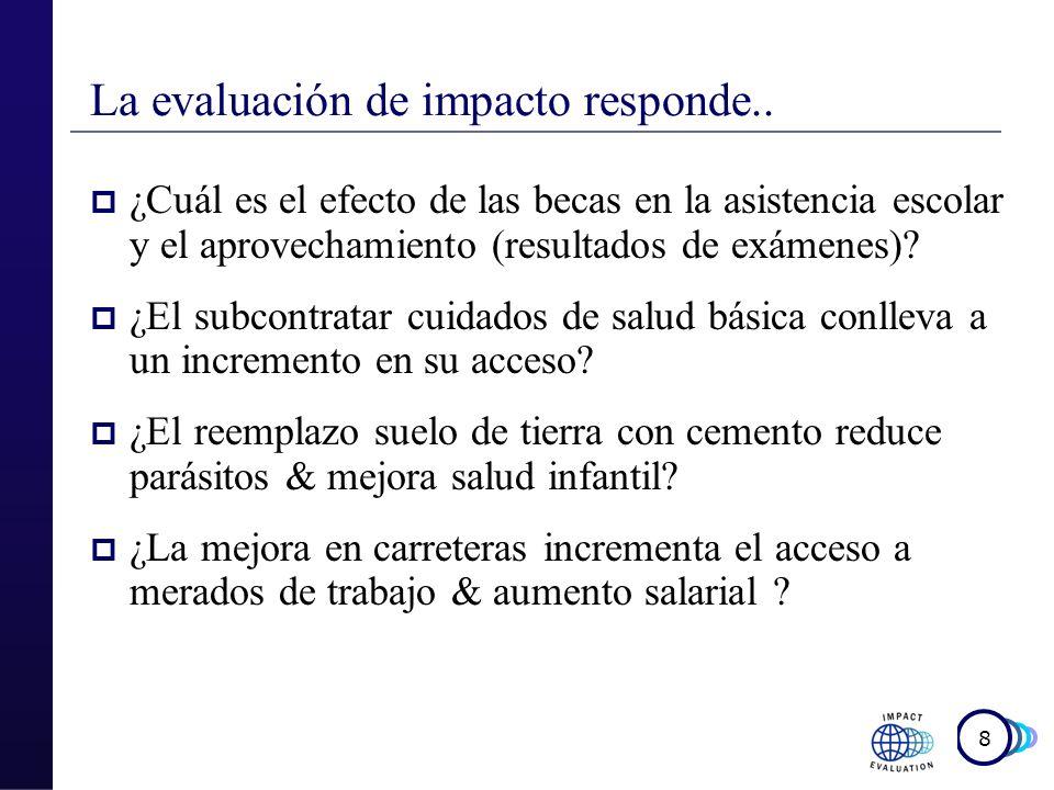 9 Usamos la evaluación de impacto para….