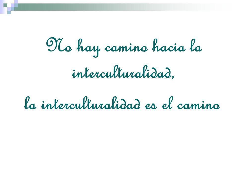 No hay camino hacia la interculturalidad, la interculturalidad es el camino
