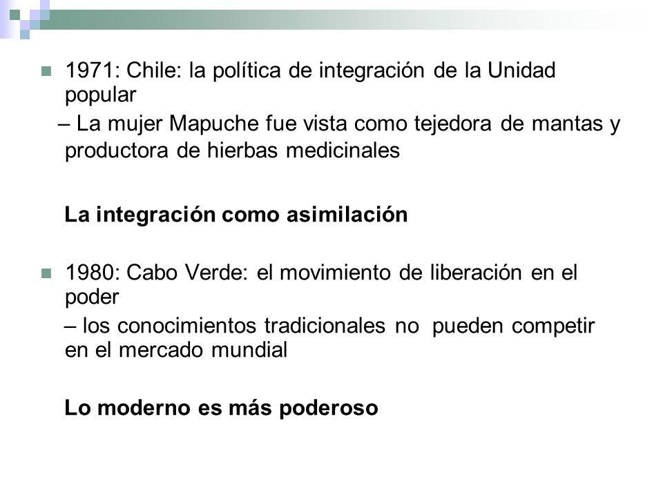 1971: Chile: la política de integración de la Unidad popular – La mujer Mapuche fue vista como tejedora de mantas y productora de hierbas medicinales