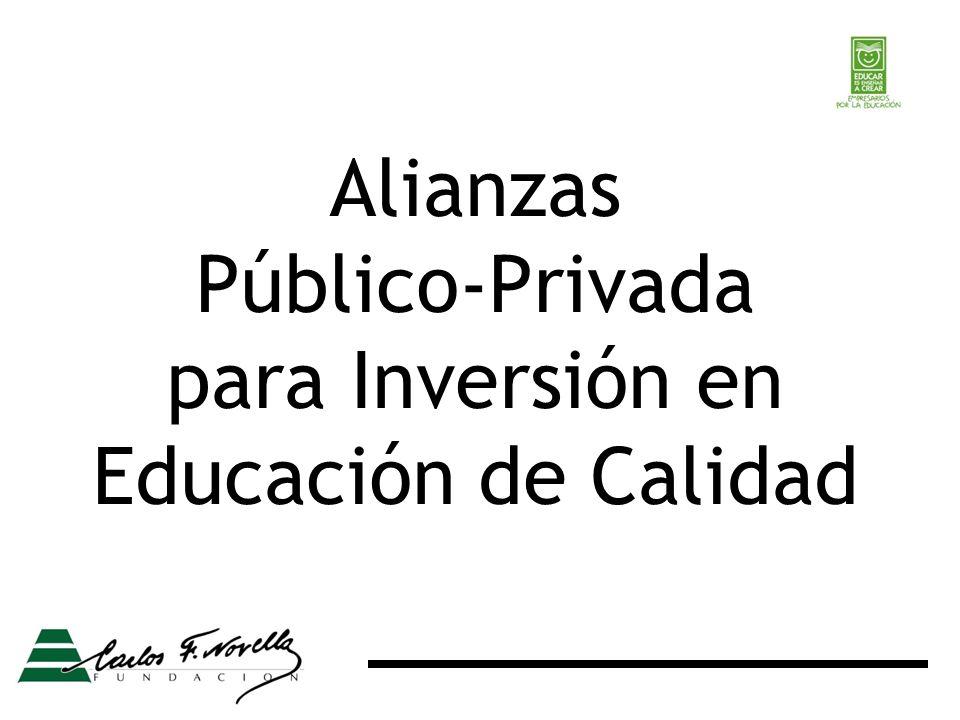 Alianzas Público-Privada para Inversión en Educación de Calidad