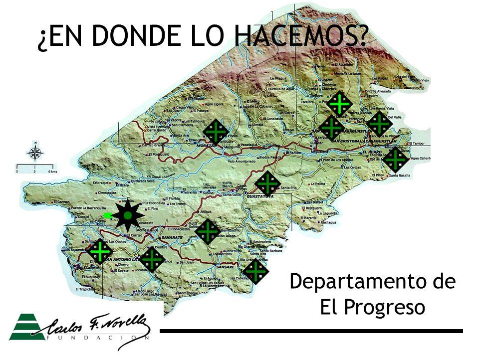 Departamento de El Progreso ¿EN DONDE LO HACEMOS?