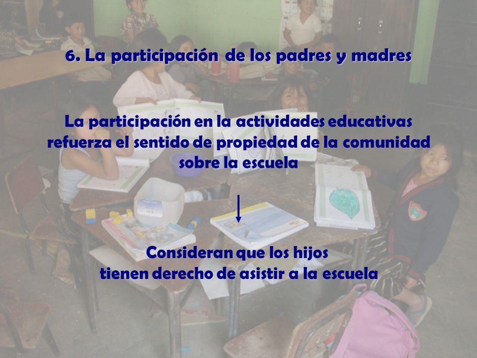 6. La participacin de los padres y madres 6.