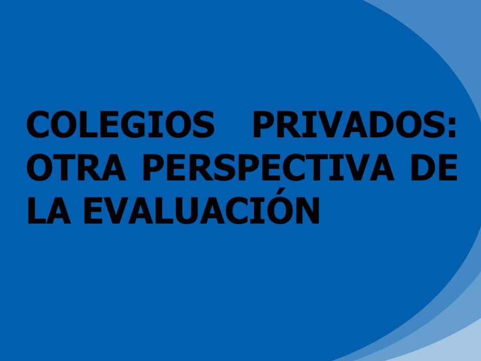COLEGIOS PRIVADOS: OTRA PERSPECTIVA DE LA EVALUACIÓN