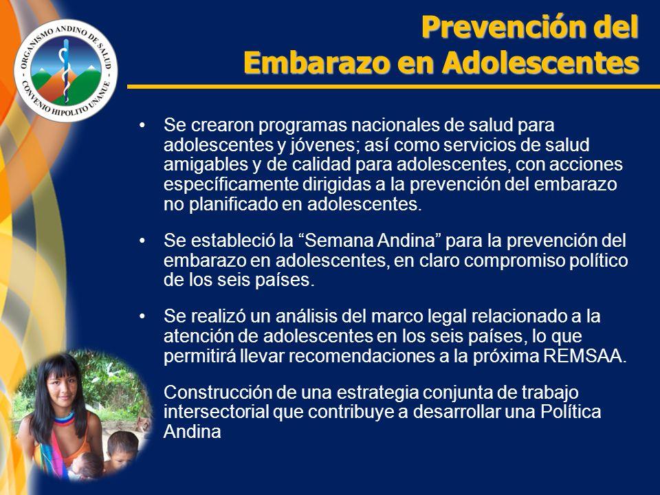 Se crearon programas nacionales de salud para adolescentes y jóvenes; así como servicios de salud amigables y de calidad para adolescentes, con acciones específicamente dirigidas a la prevención del embarazo no planificado en adolescentes.