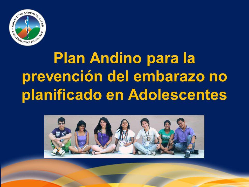 Plan Andino para la prevención del embarazo no planificado en Adolescentes