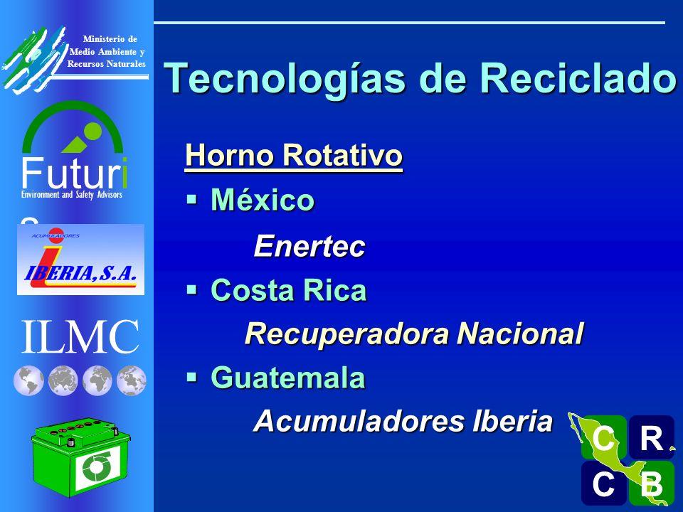 ILMC Environment and Safety Advisors Futuri s R C C B B C Ministerio de Medio Ambiente y Recursos Naturales Horno Rotativo Why Choose Rotary Furnace Technology?