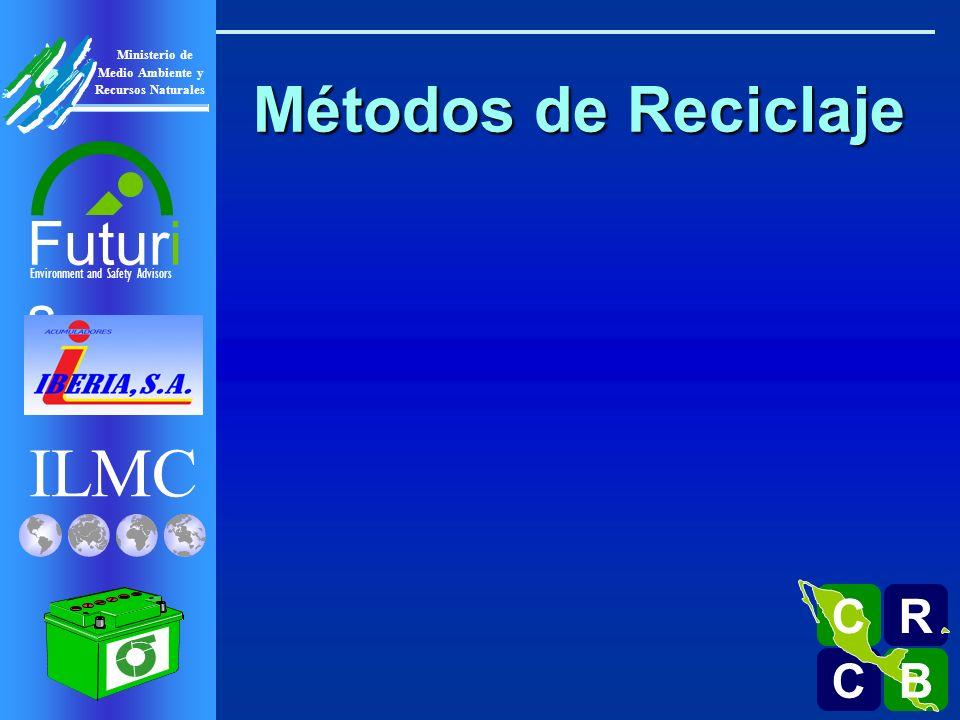 ILMC Environment and Safety Advisors Futuri s R C C B B C Ministerio de Medio Ambiente y Recursos Naturales Métodos de Reciclaje Sector Formal Sector Informal