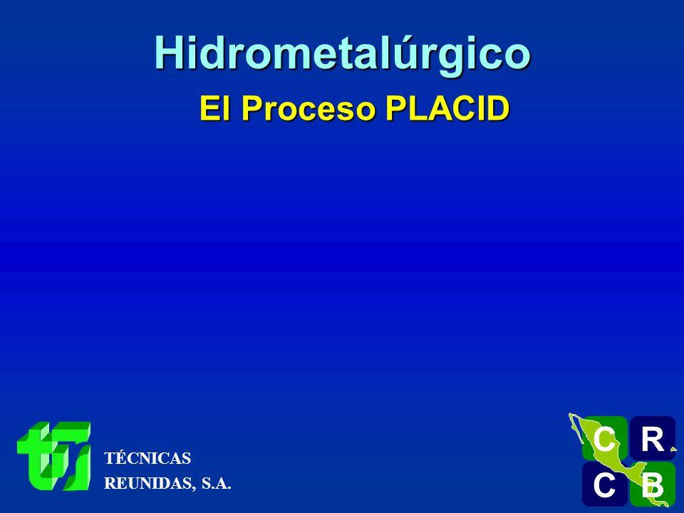 El Proceso PLACID Pasta R C C B B C Hidrometalúrgico TÉCNICAS REUNIDAS, S.A.