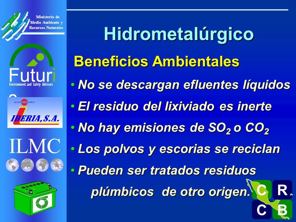 ILMC Environment and Safety Advisors Futuri s R C C B B C Ministerio de Medio Ambiente y Recursos Naturales No se descargan efluentes líquidosNo se de